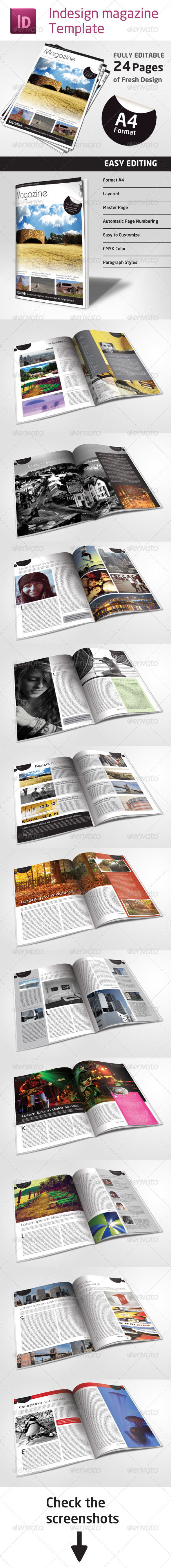 24 Pages Magazine Template in A4 Format - Magazines Print Templates