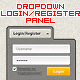 Dropdown Login/Register Panel - GraphicRiver Item for Sale