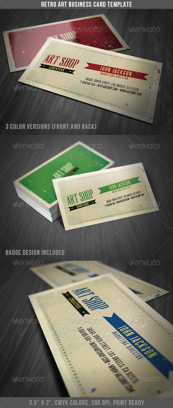 Vintage business card templates designs from graphicriver page 14 reheart Gallery