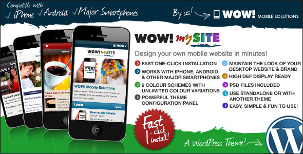 ThemeForest WOW mySite WordPress Mobile Theme 2348577