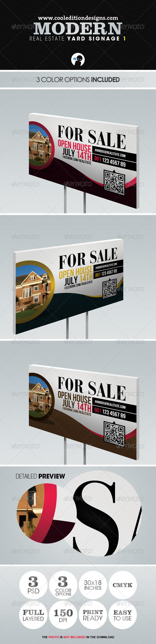 Modern Real Estate Yard Signage 1 - Signage Print Templates