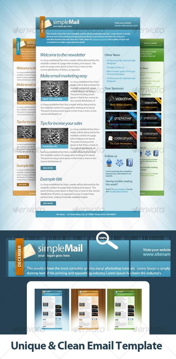 GraphicRiver Unique & Clean Email Template 89017