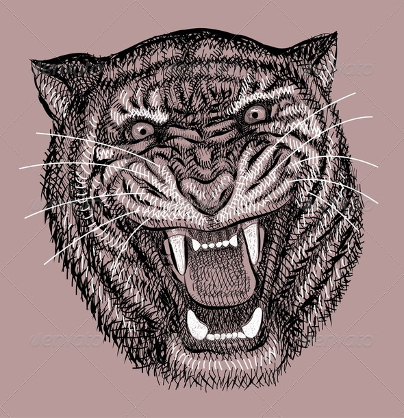 Tiger artistic drawing - Animals Characters