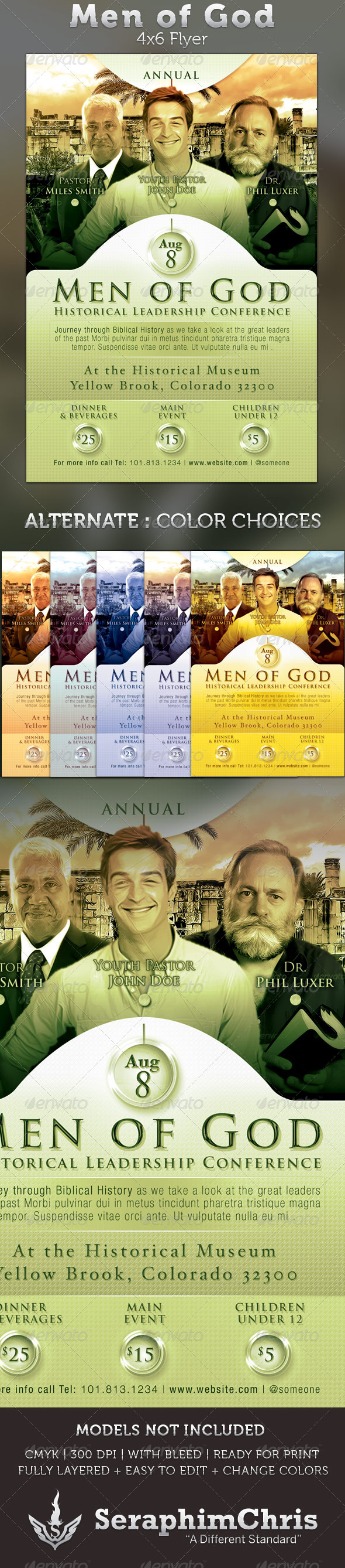 GraphicRiver Men of God 4x6 Leadership Conference Flyer 2423850