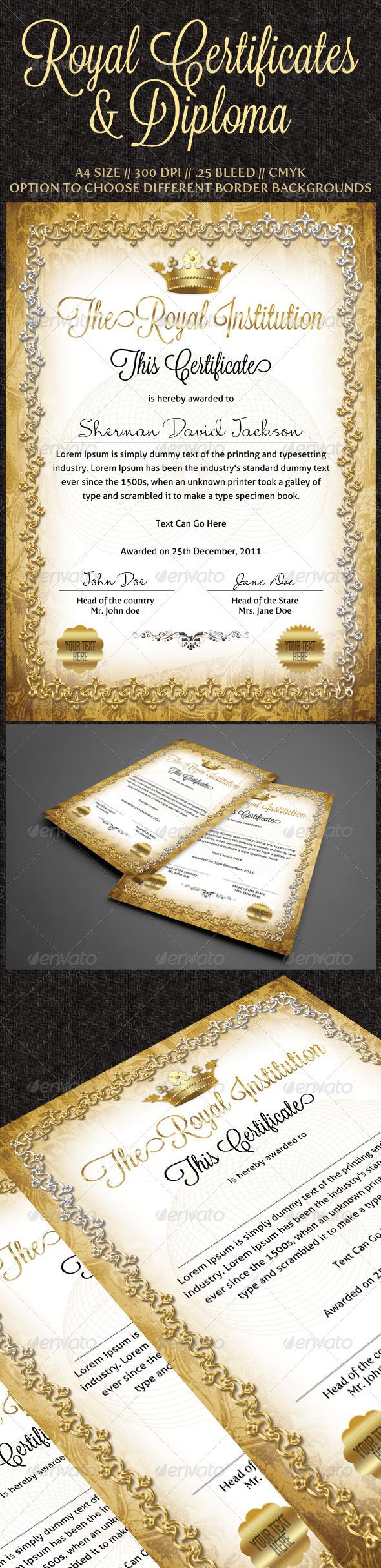 Download Royal Certificates Print Design Template
