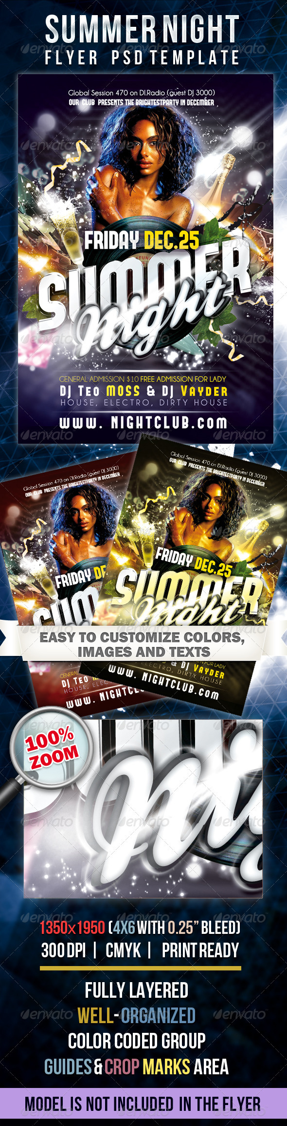 Summer Night - Flyer PSD Template