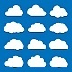 White Clouds on Blue Sky - GraphicRiver Item for Sale