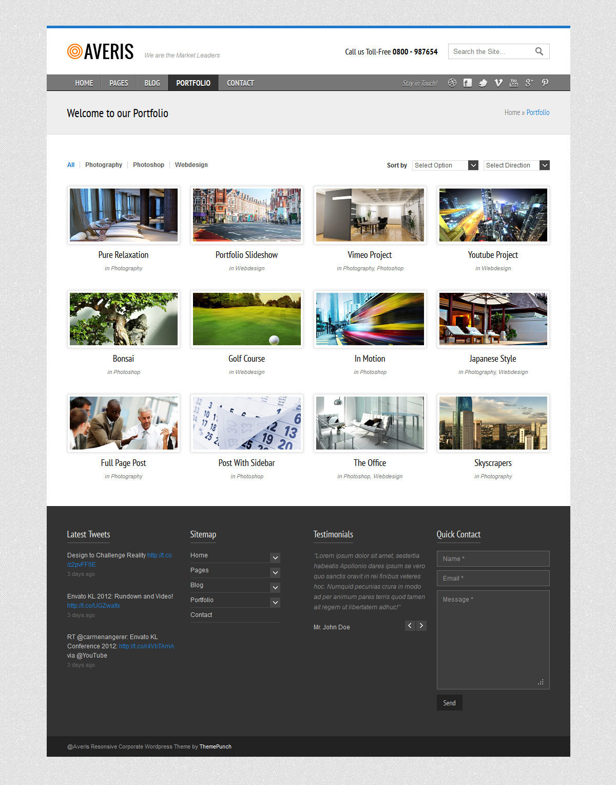 Averis Responsive Business WordPress Theme