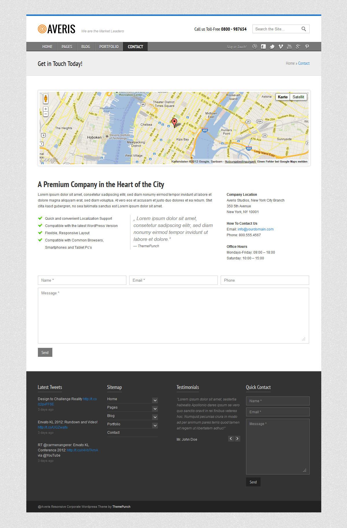 Averis Responsive Business WordPress Theme