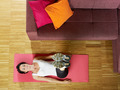woman doing abs exercise at home - PhotoDune Item for Sale