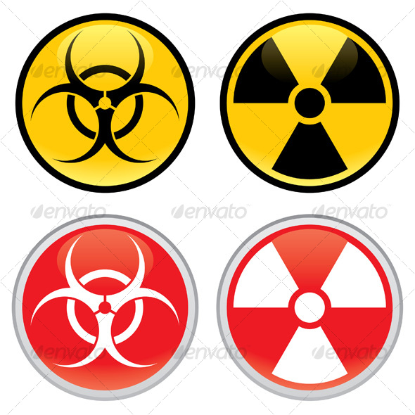 biohazard and radioactive warning signs graphicriver. Black Bedroom Furniture Sets. Home Design Ideas