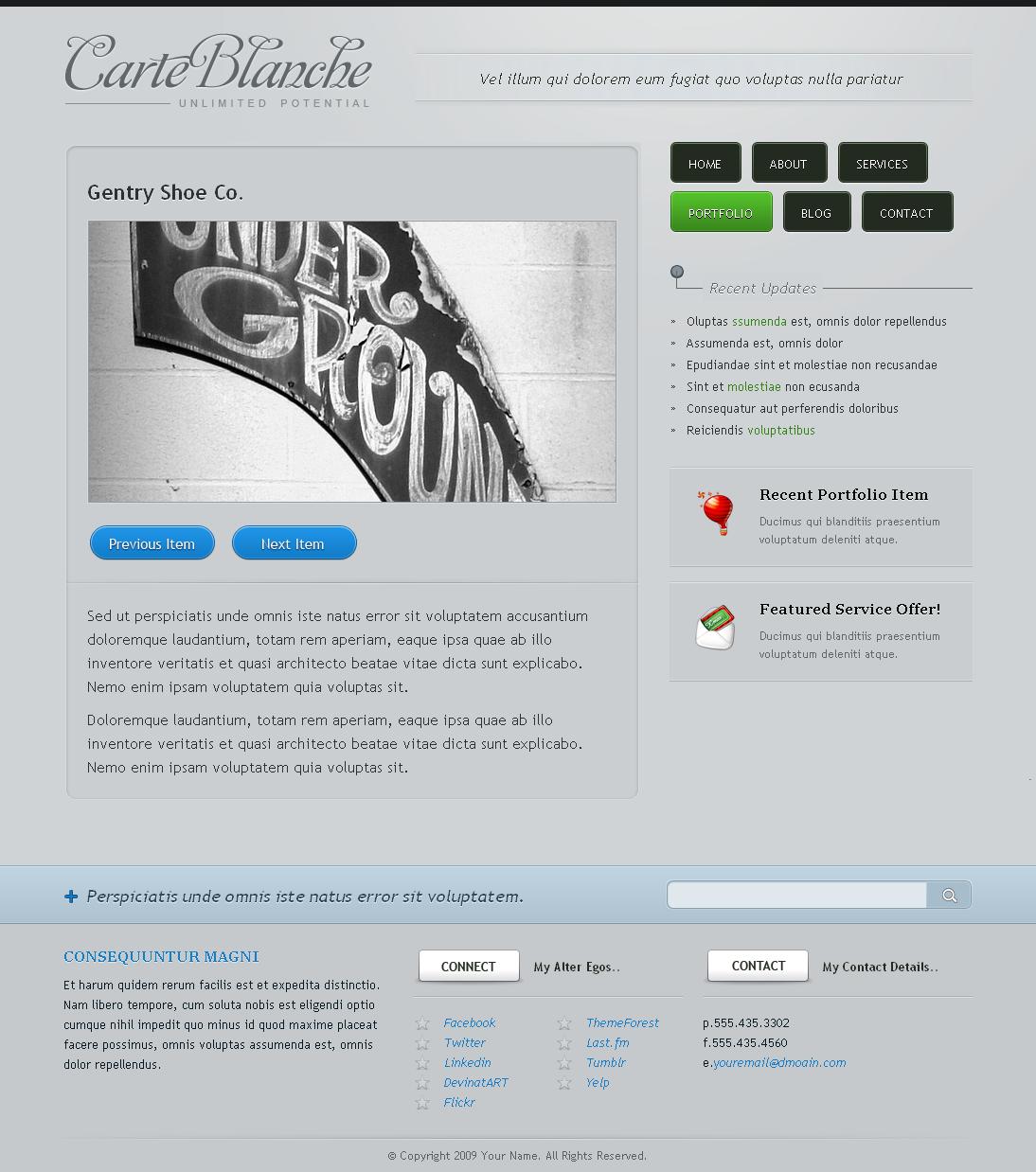 Carte Blanche - HTML Theme