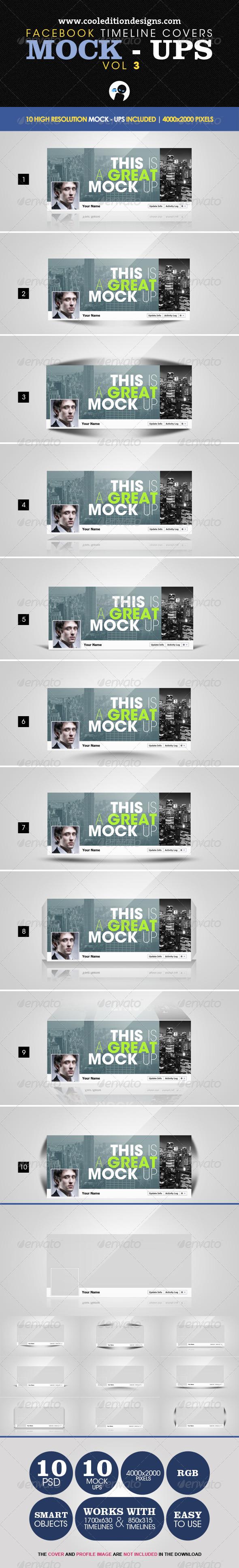 GraphicRiver Facebook Timeline Covers Mock-Ups VOL3 2426561