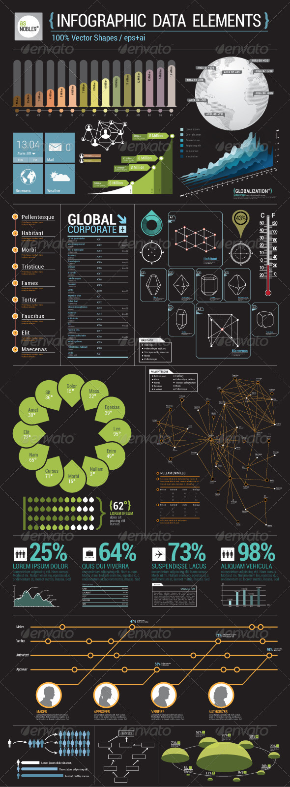 GraphicRiver Infographic Data Elements 2427542