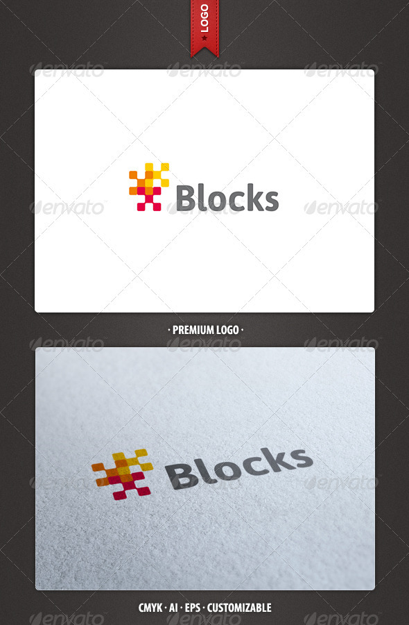 Blocks Logo Template - Abstract Logo Templates
