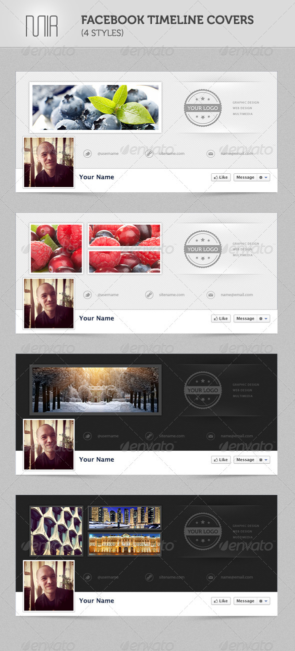 Facebook Timeline Covers (4 styles) - Facebook Timeline Covers Social Media
