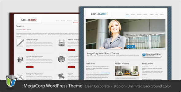 MegaCorp - Corporate Business WordPress Theme