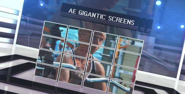 After Effects Project - VideoHive Gigantic Screens 273052