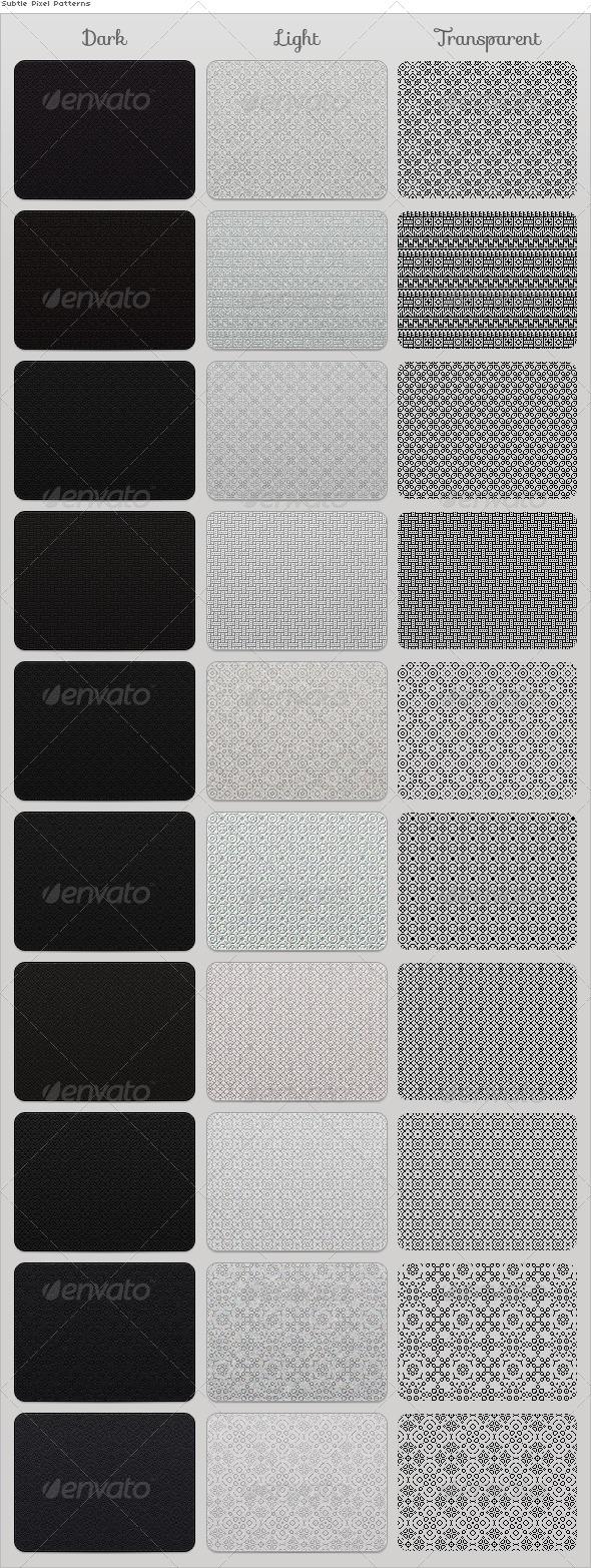 Subtle Pixel Patterns - Textures / Fills / Patterns Photoshop