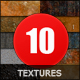 10 Tileable Textures Surfaces 3000x2000