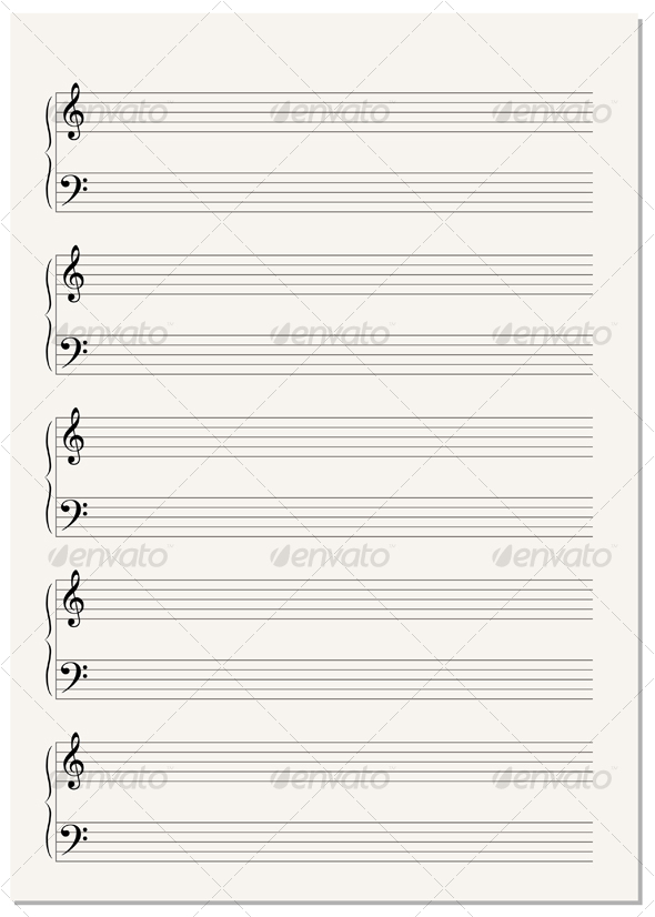 musical notes background. Music Notation Paper Sheet