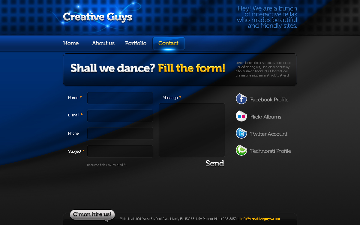 Creative Portfolio Template #04 HTML+CSS+PSD
