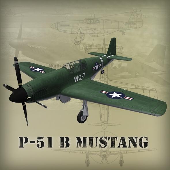 3DOcean P-51B Mustang 2430818