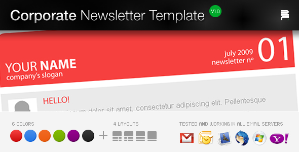 newsletter templates indesign. Corporate Newsletter Template
