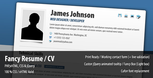 Fancy Resume / CV
