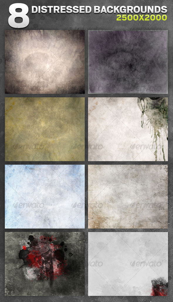8 Distressed Backgrounds - Backgrounds Graphics