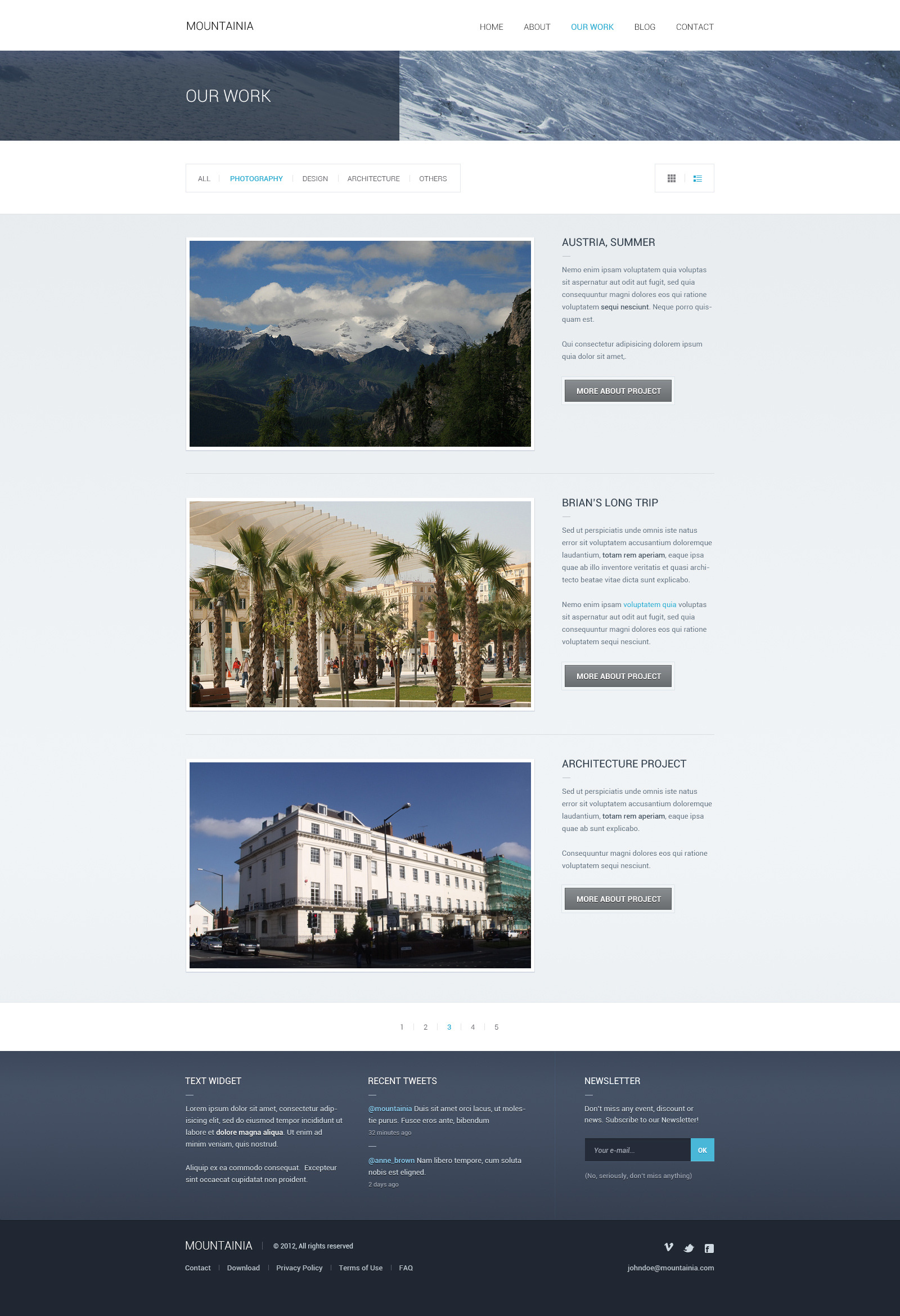 Mountainia Theme PSD