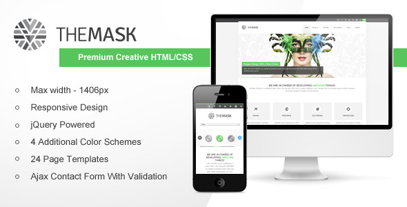 The Mask - Premium Creative HTML/CSS Template