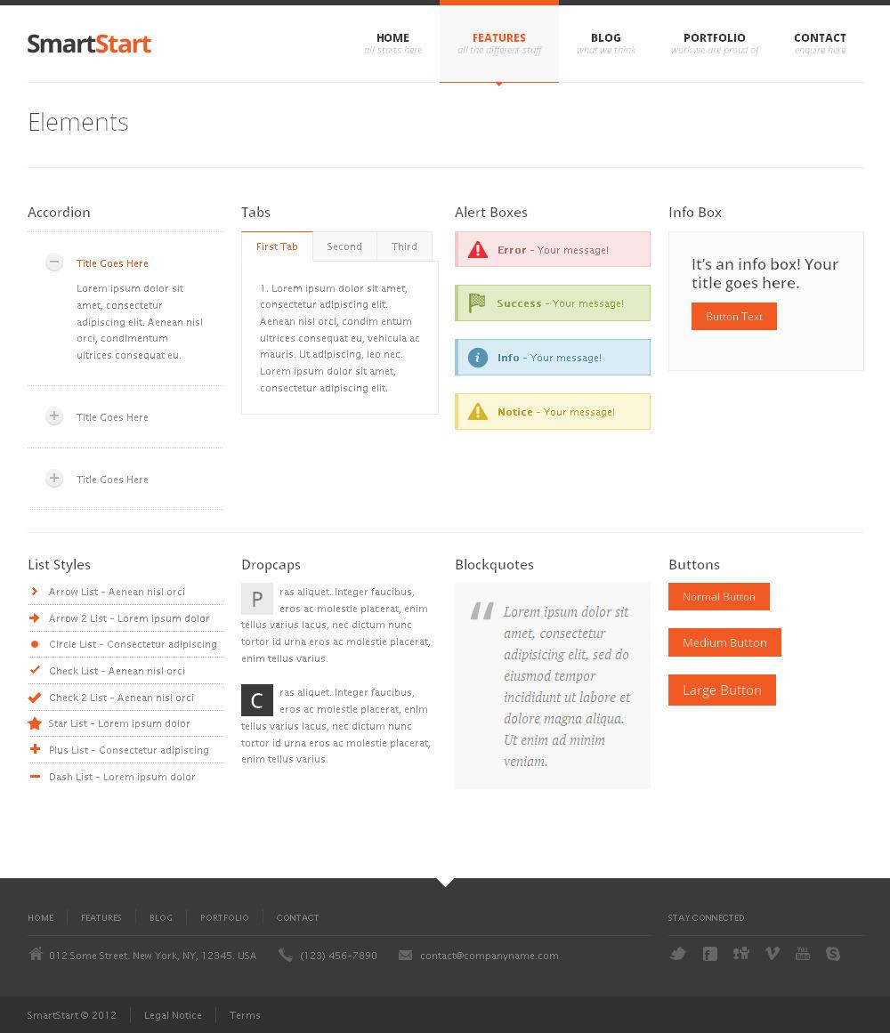 SmartStart - Responsive HTML5 Template