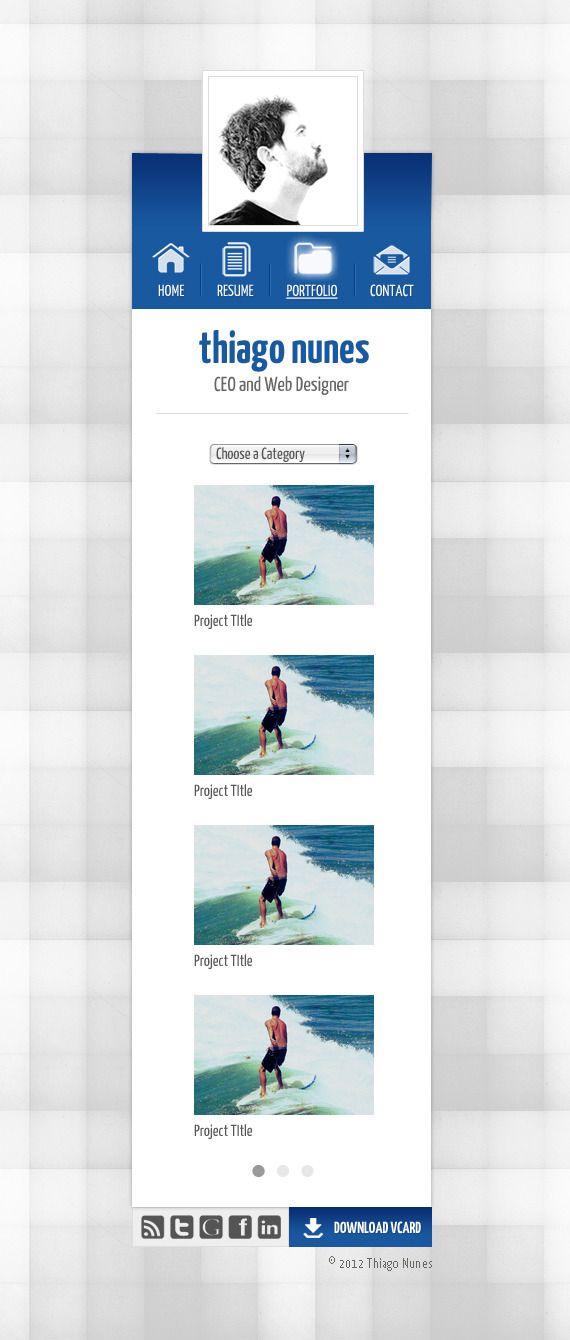 JustMe Responsive Professional vCard