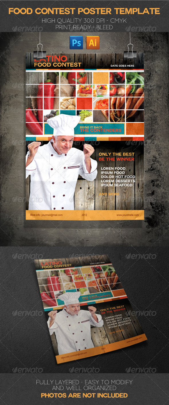 GraphicRiver Latino Food Contest Poster Template 2416789