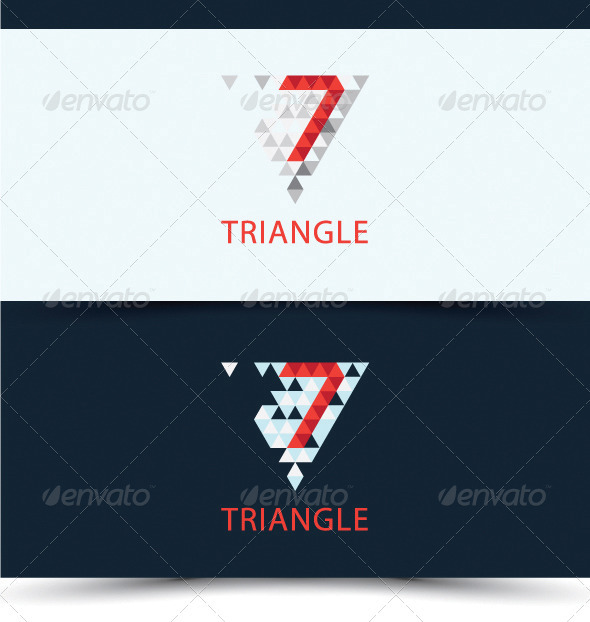 GraphicRiver 7 TRIANGLE LOGO 2418945 Created: 31