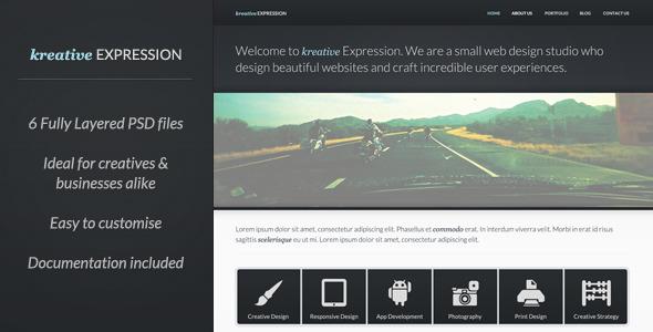 Kreative Expression - Creative PSD Template