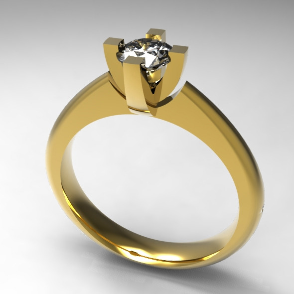 Solitaire Ring - 3DOcean Item for Sale