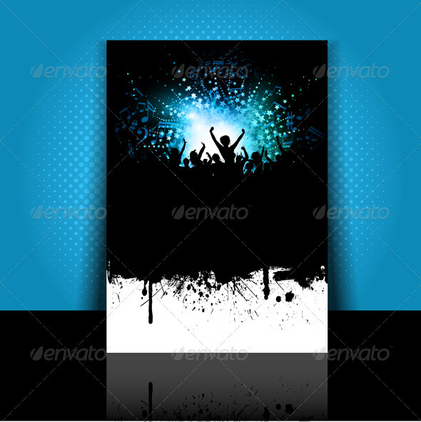 Party flyer layout - Backgrounds Decorative