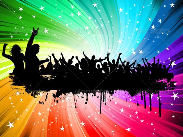 GraphicRiver Crowd on starburst 2436704