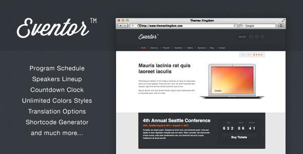 Eventor - Theme para la Gestión de Eventos Mediante Wordpress