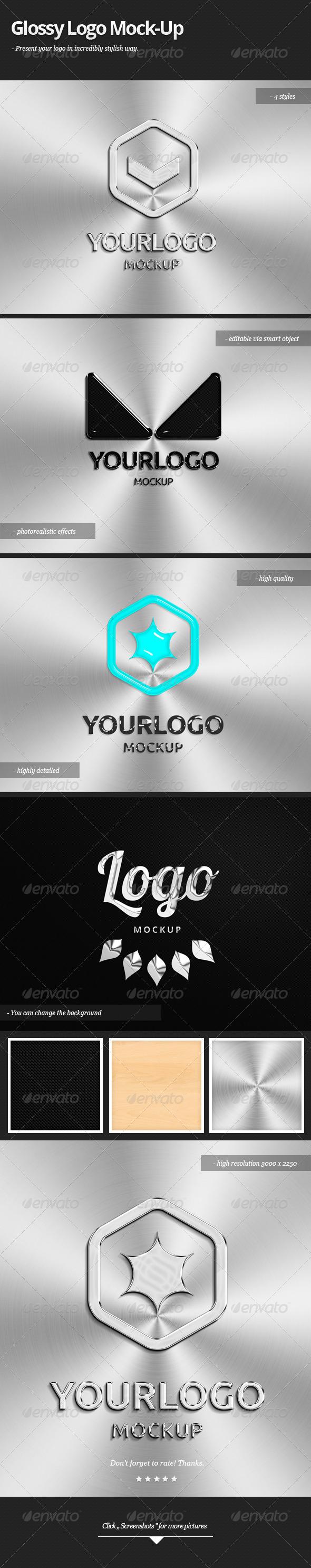 Glossy Logo Mock-up - Logo Product Mock-Ups