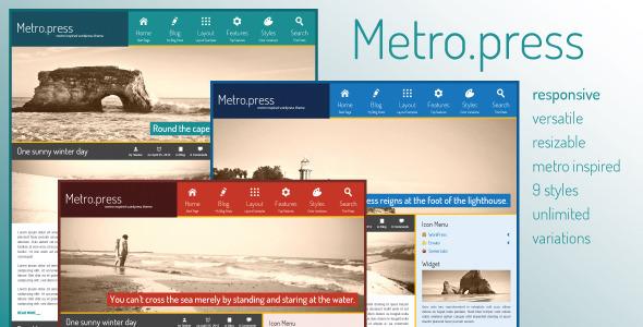 ThemeForest Metro.press Expressive WordPress Theme 2337037