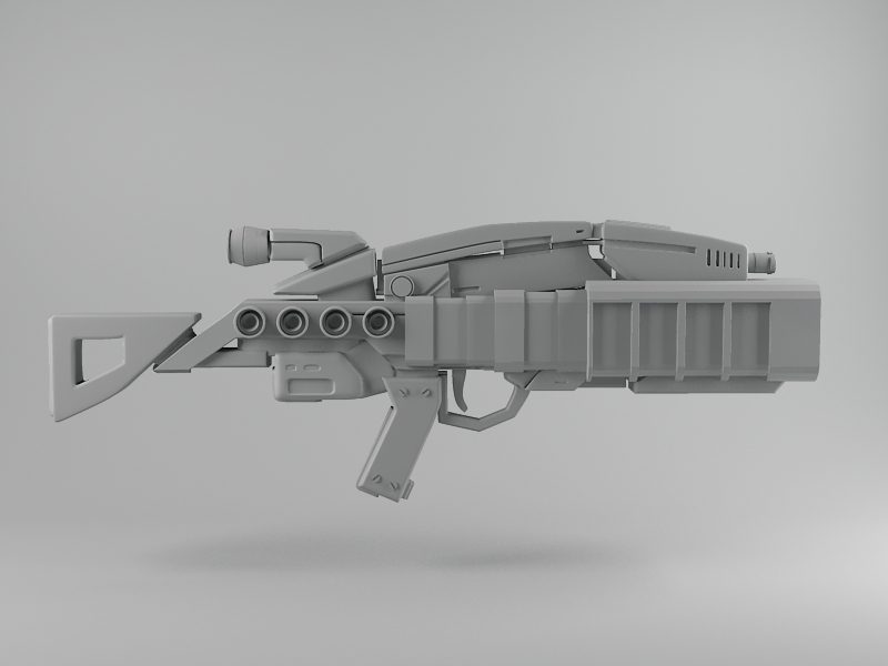Assault Rifle - 3DOcean Item for Sale