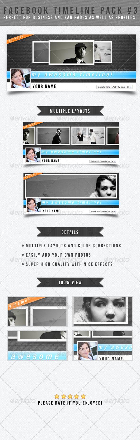 Facebook Timeline Pack #3 - Facebook Timeline Covers Social Media