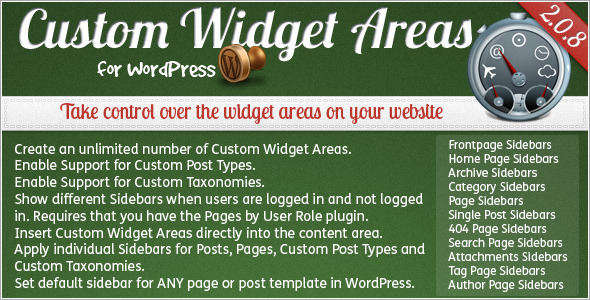CodeCanyon Custom Widget Areas for WordPress 130941