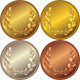 Set of the Gold, Silver and Bronze Coins - GraphicRiver Item for Sale