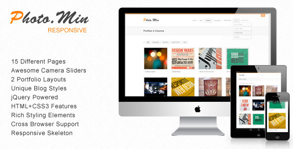 01 Title.  large preview Free Template: Photomin | Responsive HTML Template