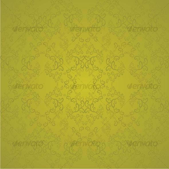 Swirl golden pattern - Backgrounds Decorative