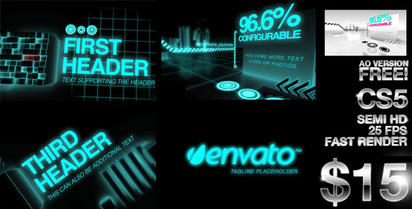 After Effects Project - VideoHive Futuristic and Ambient Occlusion openers 2296261